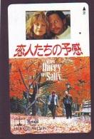 Télécarte Japon * 110-011 * Film Cinema (4164) WHEN HARRY MET SALLY  - Japan Movie Phonecard - Kino