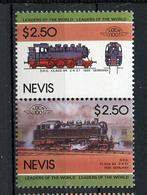 TRAINS - 1985 -  NEVIS  - Mi. Nr. 290/91 -  NH -  (UP.70.40) - St.Kitts E Nevis ( 1983-...)