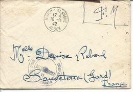 """Maison Blanche Alger FM >> Sauveterre (Gard) """"compagnie D'infanterie De L'air** Le Vaguemestre"""" - Guerra Del 1939-45"""