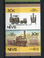 TRAINS - 1986 -  NEVIS  - Mi. Nr. 340/41 -  NH -  (UP.70.40) - St.Kitts E Nevis ( 1983-...)
