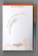 Tube Sur Carte Echantillon HERMES  EAU DES MERVEILLES  EDT 2 ML - Perfume Samples (testers)