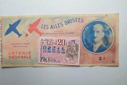BILLETS DE LOTERIE 1968 - Billetes De Lotería
