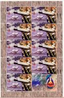 ARTSAKH NAGORNO MOUNTAINOUS KARABAKH ARMENIA 2011 SHUTTLE SPACE USA 2 SHEETLETS OF 10 MNH - Stamps
