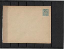 CTN27 - ENVELOPPE SAGE 15c   147x112  PAPIER GRIS NEUVE - Postal Stamped Stationery