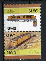 TRAINS - 1986 -  NEVIS  - Mi. Nr. 344/45 -  NH -  (UP.70.40) - St.Kitts E Nevis ( 1983-...)