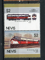 TRAINS - 1986 -  NEVIS  - Mi. Nr. 346/47 -  NH -  (UP.70.40) - St.Kitts E Nevis ( 1983-...)