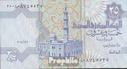 Ägypten Pick-Nr: 57f, Signatur 22 (12.9.2004) Bankfrisch 2004 25 Piastres - Egipto