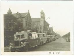 Foto/Photo. Etterbeek. Collège Saint Michel. Départ Des 25 Autocars. 1937. - Lieux