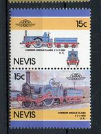 TRAINS - 1986 -  NEVIS  - Mi. Nr. 414/15 -  NH -  (UP.70.40) - St.Kitts E Nevis ( 1983-...)