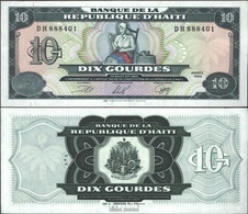 Haiti Pick-Nr: 256a (1999) Bankfrisch 1999 10 Gourdes - Haïti
