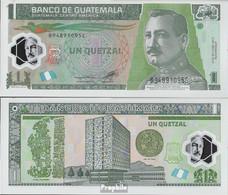Guatemala Pick-Nr: 115b Bankfrisch 2012 1 Quetzal - Guatemala