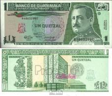 Guatemala Pick-Nr: 73b Bankfrisch 1991 1 Quetzal - Guatemala