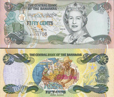 Bahamas Pick-Nr: 68 Bankfrisch 2001 1/2 Dollar - Bahamas