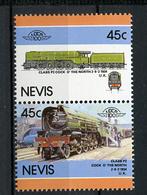 TRAINS - 1986 -  NEVIS  - Mi. Nr. 416/17 -  NH -  (UP.70.40) - St.Kitts E Nevis ( 1983-...)