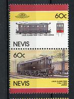 TRAINS - 1986 -  NEVIS  - Mi. Nr. 418/19 -  NH -  (UP.70.40) - St.Kitts E Nevis ( 1983-...)