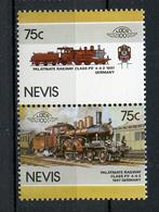 TRAINS - 1986 -  NEVIS  - Mi. Nr. 420/21 -  NH -  (UP.70.40) - St.Kitts E Nevis ( 1983-...)