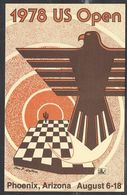 Chess, USA Pheonix, August 1978, Special Commemorative Postcard - Schaken
