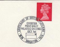 1970 BRIGHTON PROUD GALLERY PHILATELIC EXHIBITION Event COVER GB Stamps - Esposizioni Filateliche