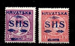 Yougoslavie YT N° 6/7 Neufs *. B/TB. A Saisir! - 1919-1929 Royaume Des Serbes, Croates & Slovènes