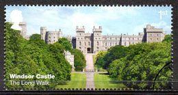 GREAT BRITAIN 2017 Windsor Castle: 1st Class NVI The Long Walk - Usati