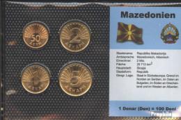 Makedonien Stgl./unzirkuliert Kursmünzen Stgl./unzirkuliert 1993-2006 50 Deni Bis 5 Denar - Macédoine
