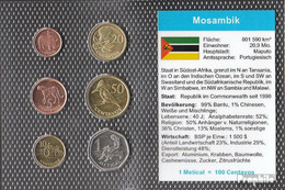 Mosambik 2006 Stgl./unzirkuliert Kursmünzen 2006 1 Centavo Bis 1 Metical - Mosambik