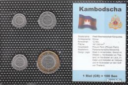 Kambodscha 1994 Stgl./unzirkuliert Kursmünzen Stgl./unzirkuliert 1994 50 Sen Bis 500 Sen - Kambodscha