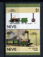 TRAINS - 1986 -  NEVIS  - Mi. Nr. 422/23 -  NH -  (UP.70.40) - St.Kitts E Nevis ( 1983-...)