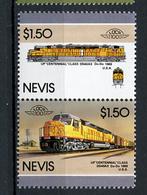 TRAINS - 1986 -  NEVIS  - Mi. Nr. 424/25 -  NH -  (UP.70.40) - St.Kitts E Nevis ( 1983-...)