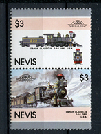 TRAINS - 1986 -  NEVIS  - Mi. Nr. 428/29 -  NH -  (UP.70.40) - St.Kitts E Nevis ( 1983-...)