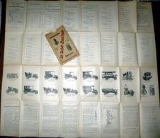 DE DION BOUTON 1910 GRANDE CARTE ILLUSTREE CENTRE DE LA FRANCE NOMBREUSES GRAVURES AUTOMOBILES - Voitures