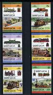 TRAINS - 1984 -  SAINT LUCIA - Mi. Nr. 672/79 -  NH -  (UP.70.41) - St.Lucia (1979-...)
