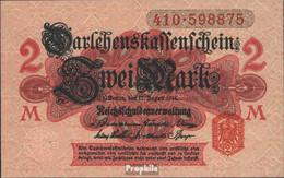 Deutsches Reich RosbgNr: 52c, Mit Unterdruck Bankfrisch 1914 2 Mark - [ 2] 1871-1918 : Duitse Rijk