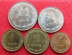 Myanmar Set - 1 5 10 50 100 K 1999 Burma - Myanmar