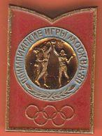 Basketball / Olympic Games Moscow 1980 / Pin, Badges, Badge - Baloncesto