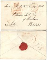 AR59) GREAT BRITAIN - Complete Free Frank From London To Peebles ( James LOCH ) With SUNDAY Datestamp - ...-1840 Precursori