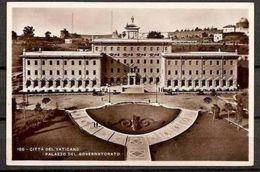 1931 Vaticano Vatican STORIA POSTALE  GIALLINO Su Cartolina 'Palazzo Del Governatorato' Viagg. Vaticano Genova - Vatican