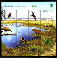 URUGUAY, 2015,BIRDS, ANIMALS, REPTILES, S/S,  MNH** - Oiseaux