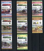 TRAINS - 1983 -  SAINT LUCIA - Mi. Nr. 612/27 -  NH -  (UP.70.41) - St.Lucia (1979-...)