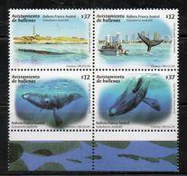 URUGUAY, 2011,WHALES, 4v. MNH** - Baleines