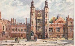 """""""Charles E.Flower. Eton College. Quadrangle""""  Tuck Oilette Postard # 7938 - Tuck, Raphael"""