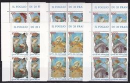 1998 Vaticano Vatican ANGELI  ANGELS 4 Serie Di 6v. In Quartina MNH** - Unused Stamps