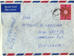 MARCOPHILIE -  Africa- Ethiopia AIR MAIL 1984 Via Macedonia.nice Stamp - Ethiopia
