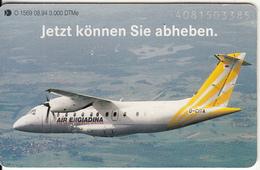 GERMANY(chip) - Deutsche Aerospace(O 1569), Tirage 3000, 08/94, Used - Vliegtuigen