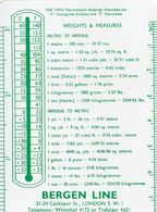 BERGEN LINE 1964  LONDON - Calendars