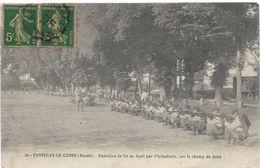 Vendée 85 FONTENAY LE COMTE Exercices De Tir Au Fusil Par L'infanterie Sur Le Champ De Foire Militaria ..G - Fontenay Le Comte
