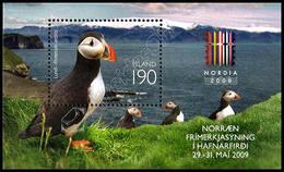Islanda / Iceland 2009: Foglietto Esposizione Filatelica Nordia 2009 / Nordia 2009 Stamp Exhibition S/S ** - Marine Web-footed Birds