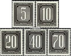 DDR DB1ND-DB5ND (kompl.Ausg.) Neudruck Gestempelt 1956 Dienstmarken Für Verwaltungspost - DDR