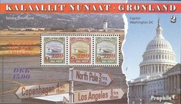 Denmark - Greenland Block7 Unmounted Mint / Never Hinged 1995 War - Blocks & Sheetlets