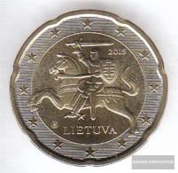 Lithuania LIT 5 2015 Stgl./unzirkuliert Stgl./unzirkuliert 2015 Kursmünze 20 Cent - Lithuania